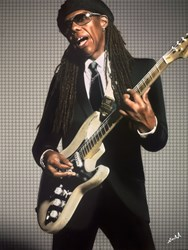 Nile Rodgers by Nick Holdsworth - Mixed Media on Board sized 35x46 inches. Available from Whitewall Galleries