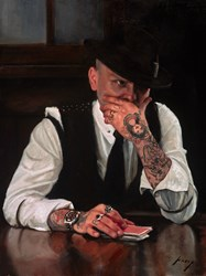 Pick a Card by Vincent Kamp - Original sized 18x24 inches. Available from Whitewall Galleries